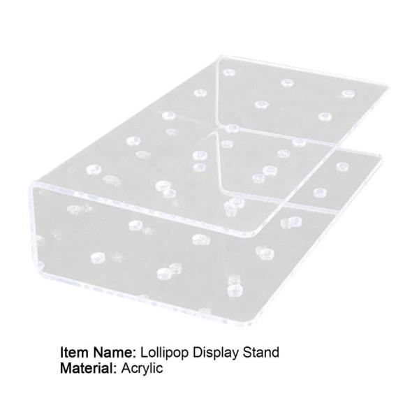 Akryl Lollipop Holder Rectangle Shape Double Layer Cake Pop S 1