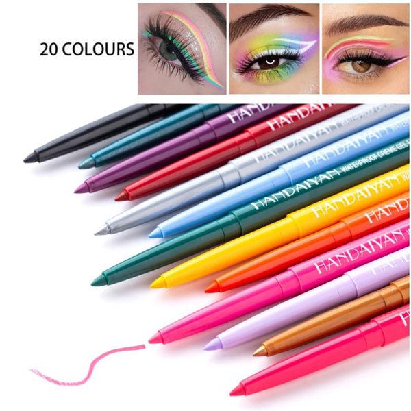 Makeup Vattentät Neon Färgrik Eyelinerpenna Make Comestics Eye 14
