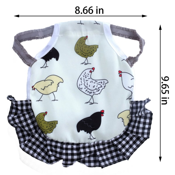 6 st kycklingsadel, 6 hönsförkläde, stabil och inte lätt att falla Multicolor One size
