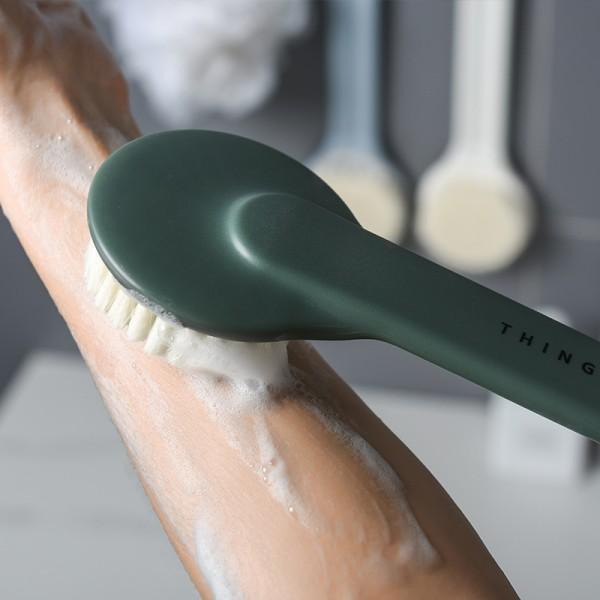 Badrum Long Handle Body Brh Exfoliation Back Scrubber Shower Blue