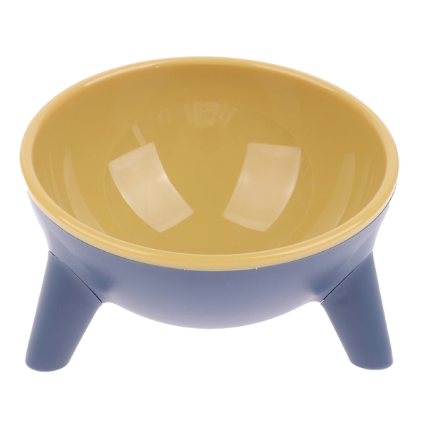 Lutande husdjursskål med stativ för kattförvaring av upphöjd halksäker Ne Yellow