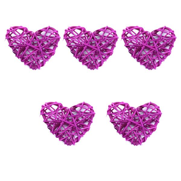 5st Billiga konstgjorda halmbollstjärnor och Love Wedding Home Chr Purple