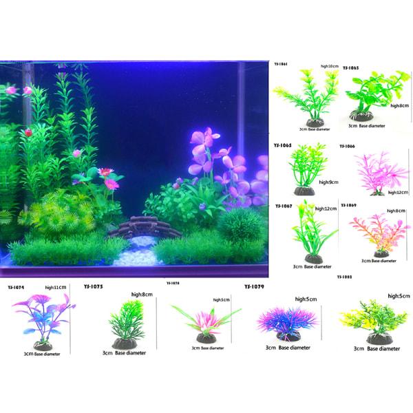 Konstgjord undervattensväxt akvarium fisk tank dekoration vatten