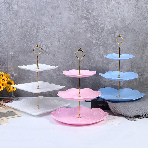 avtagbar kakstativ bakverk cupcake frukt tallrik serverar efterrätt Blue C