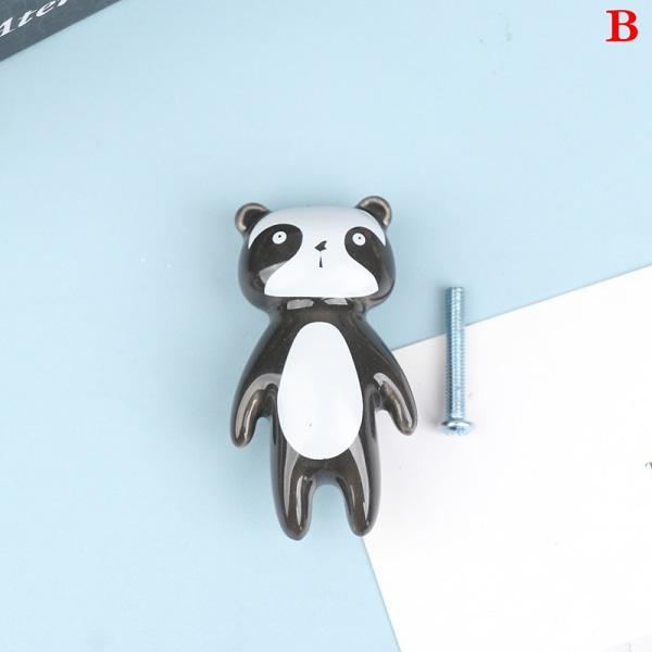 Cartoon Bear e Keramiska möbelhandtag för barnrum Kin B