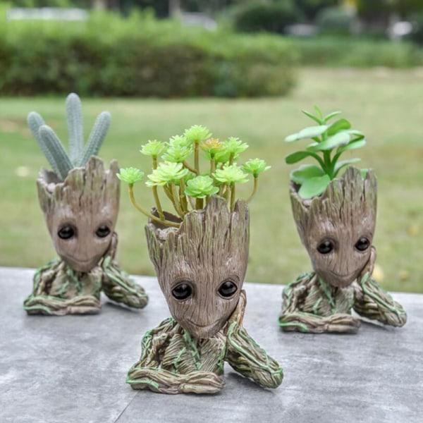 Baby Groot Flowerpot Tree Man Flower Pot Hero Model Toy Pen Pot