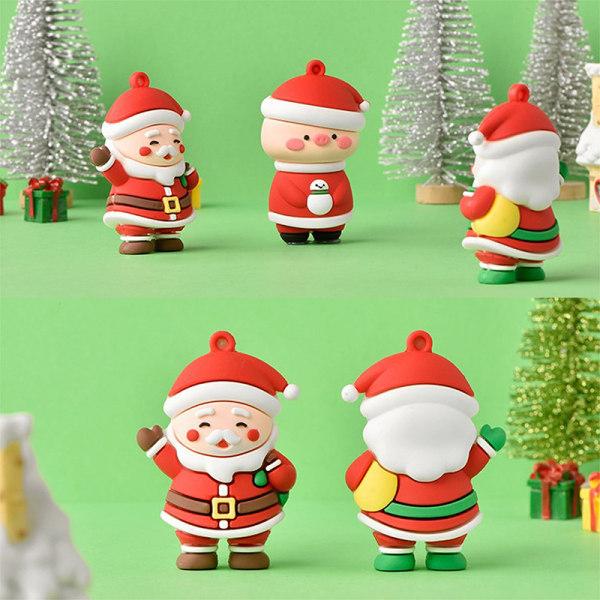 Jul Santa Claus och modern konsthantverk Silikondocka Keychai A