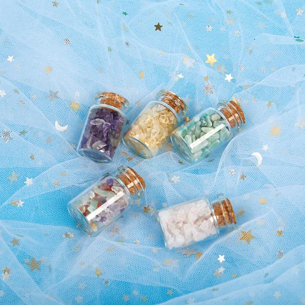 1PC Natural Crystal Glass Önskningsflaska Heminredning Healing Sto Yellow