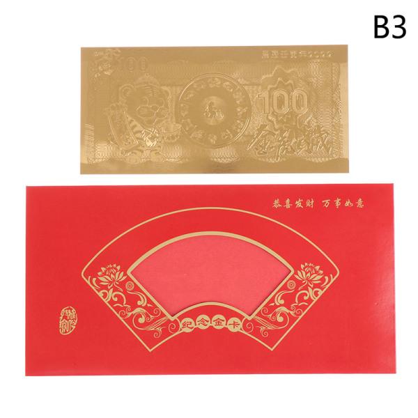 2022 Nyår av tigerminnesedeln Guld Silver B B3