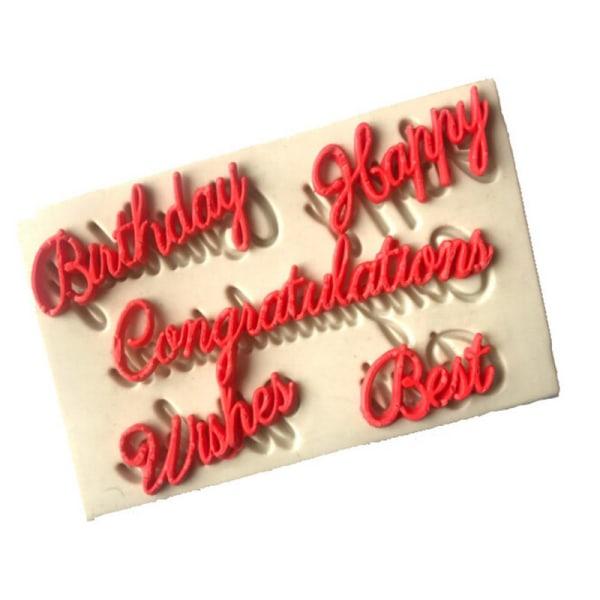 Blessing Letters silikonfondantformar tårtdekorationsverktyg c