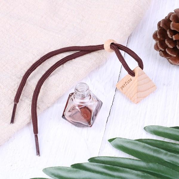 Bil diamant form parfym hängande glas tom flaska 8m