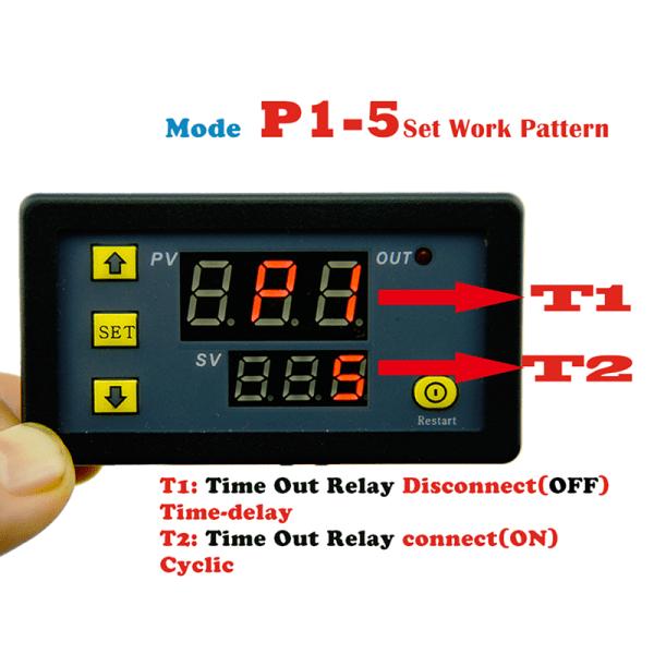 DC 12V 20A Digital display Time Delay Relay Timing Cyclin