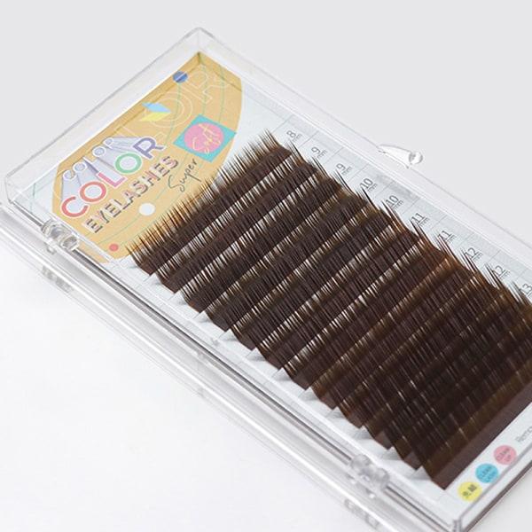 Individual Color Lashes LU Curl 0.07mm False Lashes Eyelash Fau White