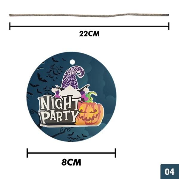2021 Halloween runda trähänge Heminredning Pumpa Wo 04