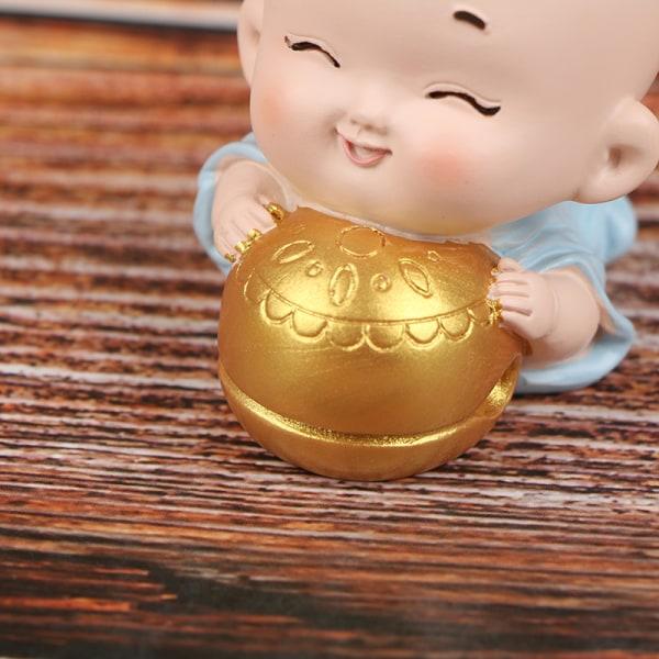 Miniatyrer och Little Monk Figurines DIY Fairy Garden Decor Car A A2