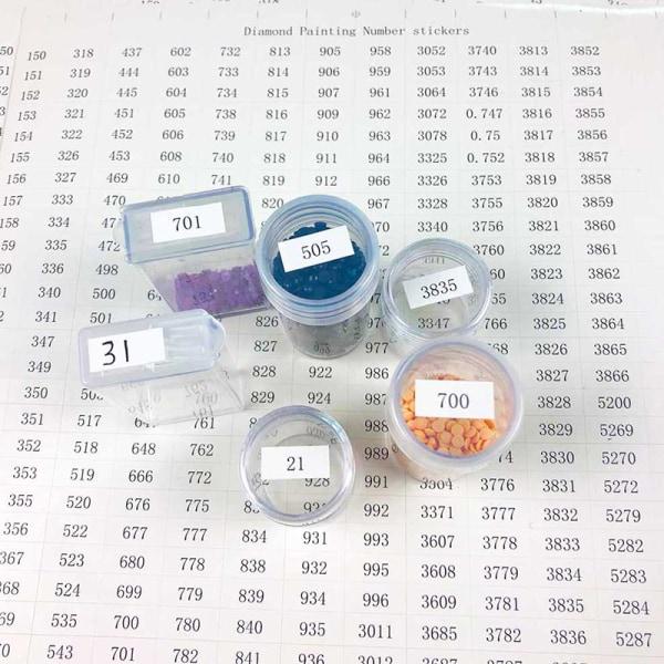 Diamantmålningsverktyg Antal etikettklistermärken för diamantmålning