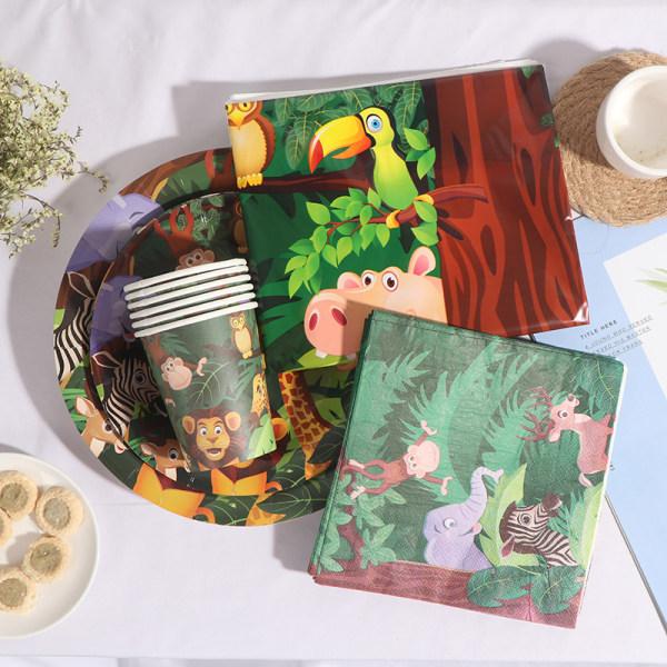 Engångsservis Jungle Animals Birthday Party Decor Ki