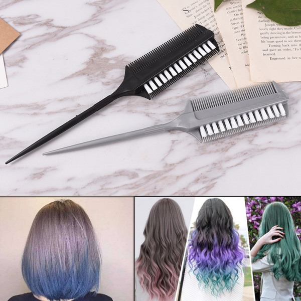 Dual Side Hair Styling Dye Comb Oil Mask Pigment Mixing Tint Co.