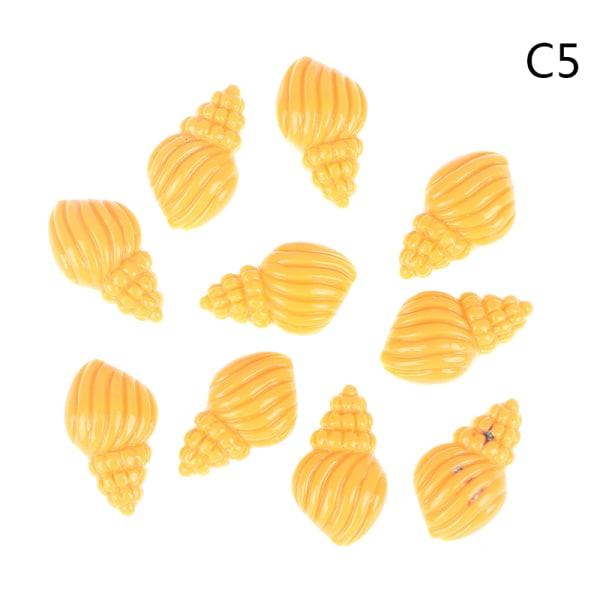 10st Lovely Shell Conch Shape Resin Flat Back DIY Hair Bows Cl C5