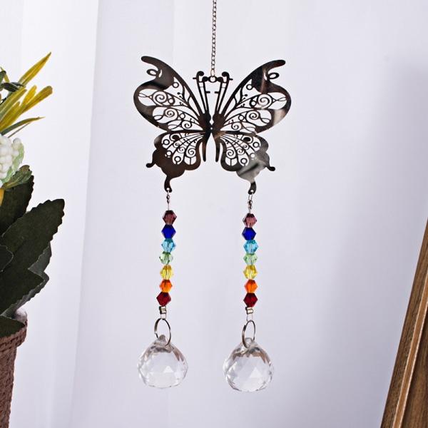 Handgjord Butterfly Suncatcher Crystal Ball Prisms Rainbow Maker