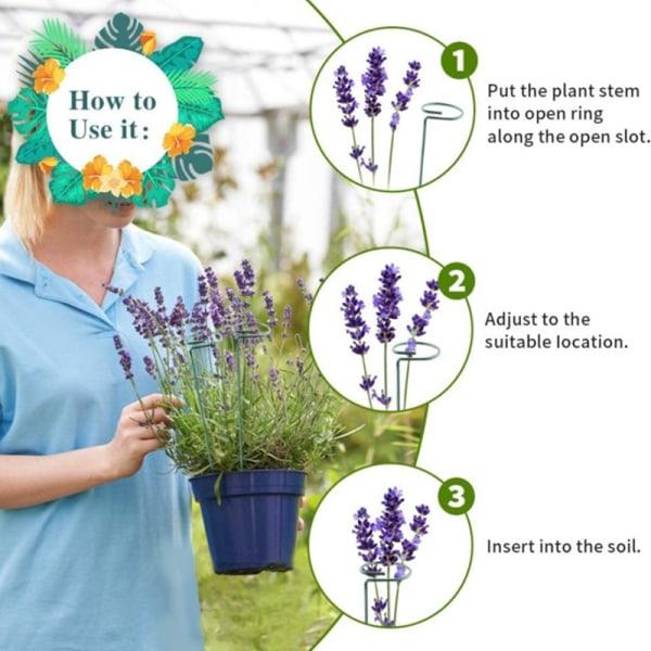 Metallträdgårdsskötsel fast blommor stöd blommarrangemang cl