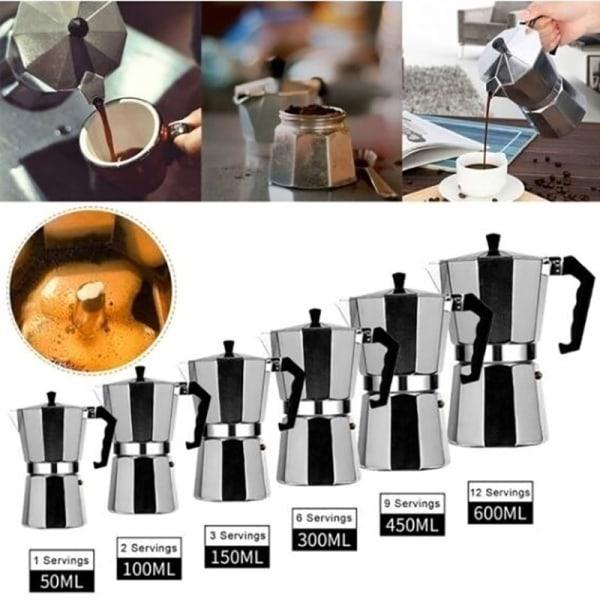Mokka Kaffebryggare Aluminium Hem Percolator Filter Espressomok