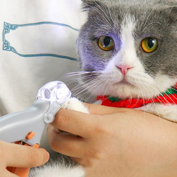 Pet Nail Clipper Scissor Pet Nail Toe Claw Scissor LED Light Na