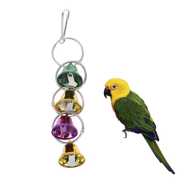 Pet Toy Play Bell Chew Toy Papegojafågel Färgrik Bell Chain Bird