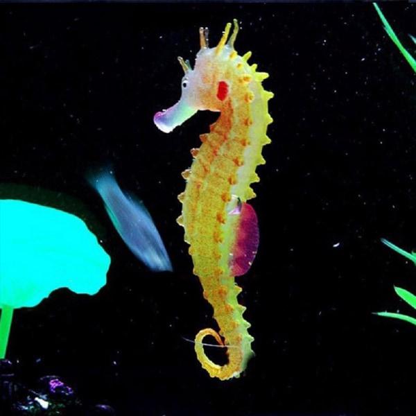 Silikon Artificiell lysande Sea Horse Aquarium Simulation Deco