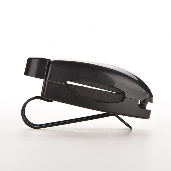 Användbar svart bilbil visir solglasögon glasögon hållare klämma
