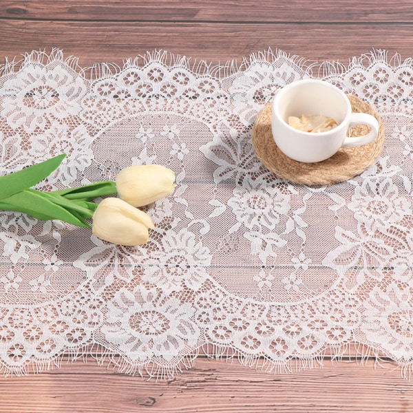 White Lace Table Runner Home Textile Party Wedding Decoration F