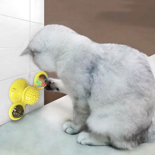 Väderkvarn Kattleksak Skivspel Teasing Husdjur Leksak Kittlande katter Hår Bru