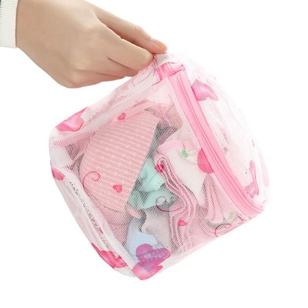 Kvinnor tvättnätväska för underkläder Wash Mesh dragkedja tvättbehå