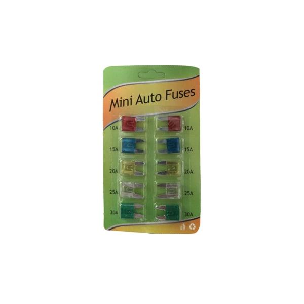 Flatsäkringar Mini 10-Pack multifärg