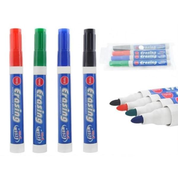 Whiteboard Pennor Olika Färger (4-Pack) multifärg