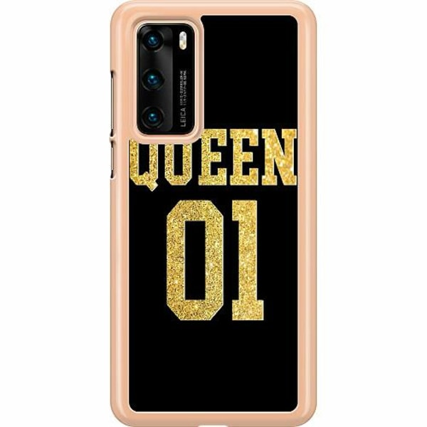 Huawei P40 Hard Case (Clear) Queen 01 Black Gold