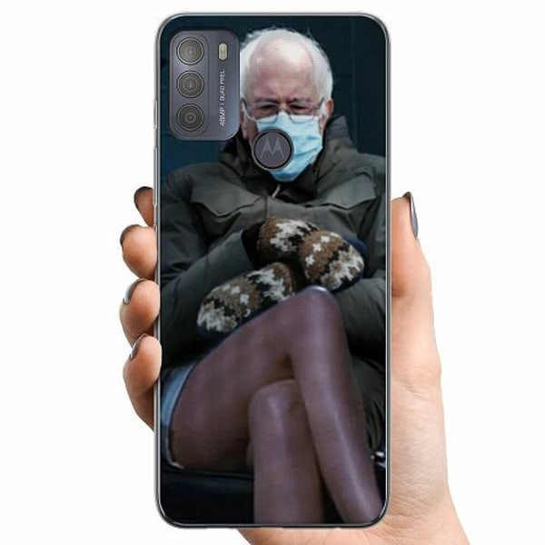 Motorola Moto G50 TPU Mobilskal Bernie Sanders Meme