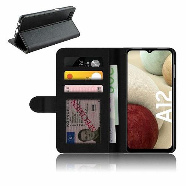 Samsung Galaxy A12 Plånboksfodral Bokstäver