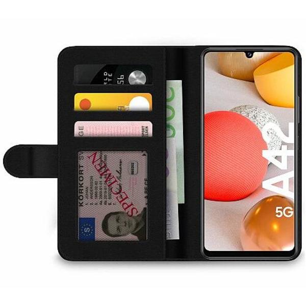 Samsung Galaxy A42 5G Wallet Case Metallic Pattern