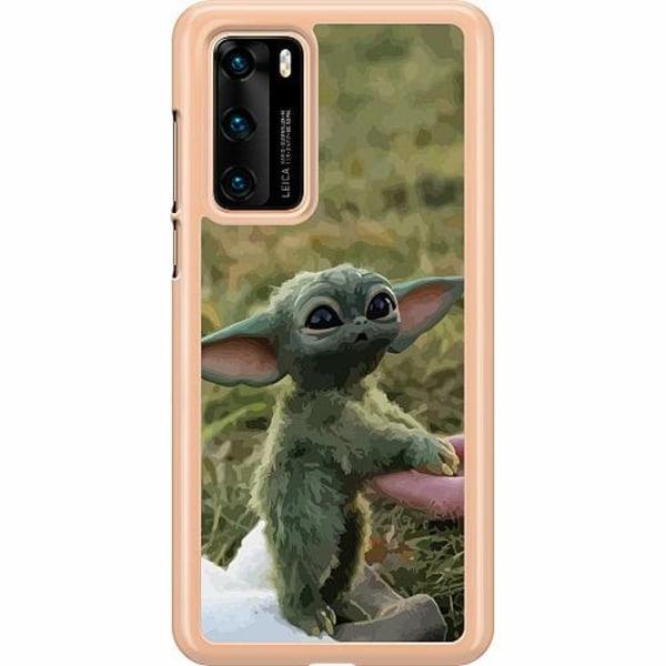 Huawei P40 Hard Case (Clear) Yoda