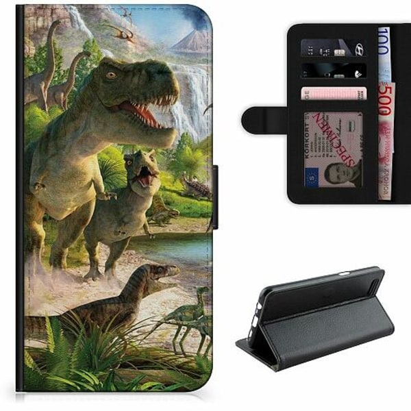 Apple iPhone 5 / 5s / SE Lyxigt Fodral Dinosaurier
