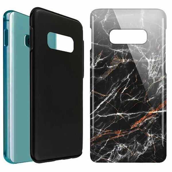 Samsung Galaxy S10e LUX Duo Case (Glansig)  BL4CK MARBLE