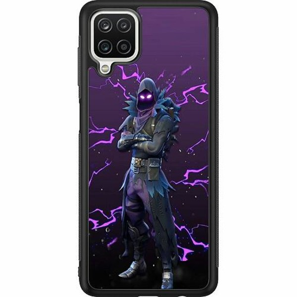 Samsung Galaxy A12 Soft Case (Svart) Raven Fortnite Thunder