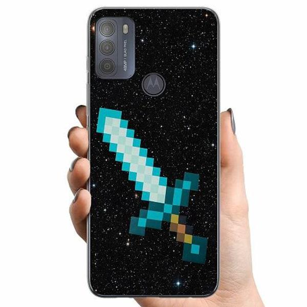 Motorola Moto G50 TPU Mobilskal Minecraft Svärd