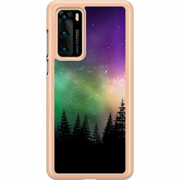 Huawei P40 Hard Case (Clear) Northern Lights
