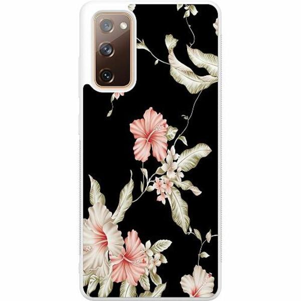 Samsung Galaxy S20 FE Soft Case (Vit) Floral Pattern Black