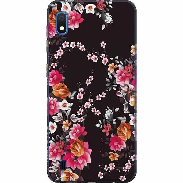 Samsung Galaxy A10 TPU Mobilskal Flower Splash