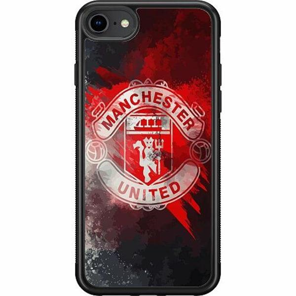 Apple iPhone 7 Soft Case (Svart) Manchester United FC