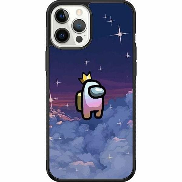 Apple iPhone 12 Pro Max Soft Case (Svart) Among Us