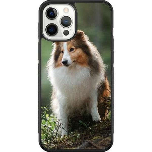 Apple iPhone 12 Pro Max Soft Case (Svart) Collie Dog